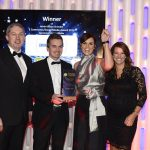 Niall Reck (Graphedia.com) with Ecommerce Award Winner, Anna Fortune, Senan Hogan and Louise Cunningham.