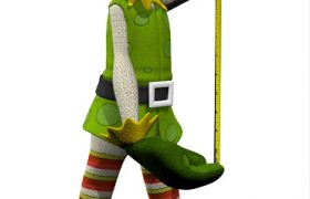 Custom 3D Character Xmas Elf Design