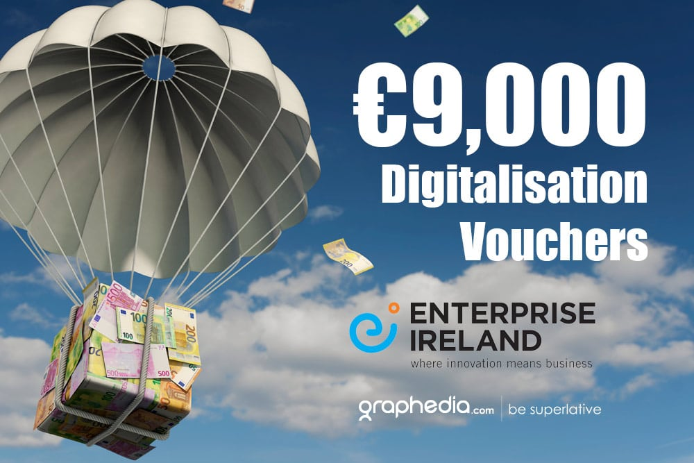 €9,000 Digitalisation Vouchers for companies of 10 employees & over
