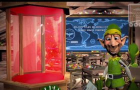 Santas Magical Trail Animated Elf Interactive Video