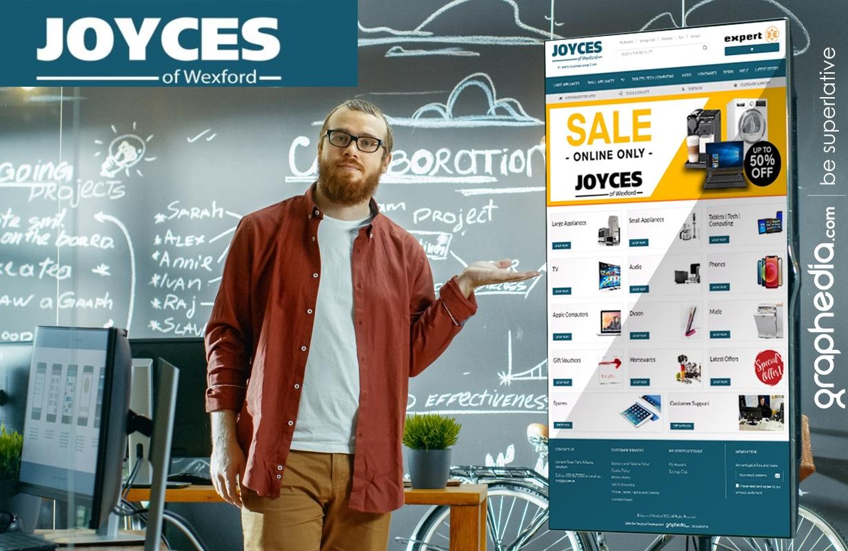 New ecommerce website design for Joyces Ireland