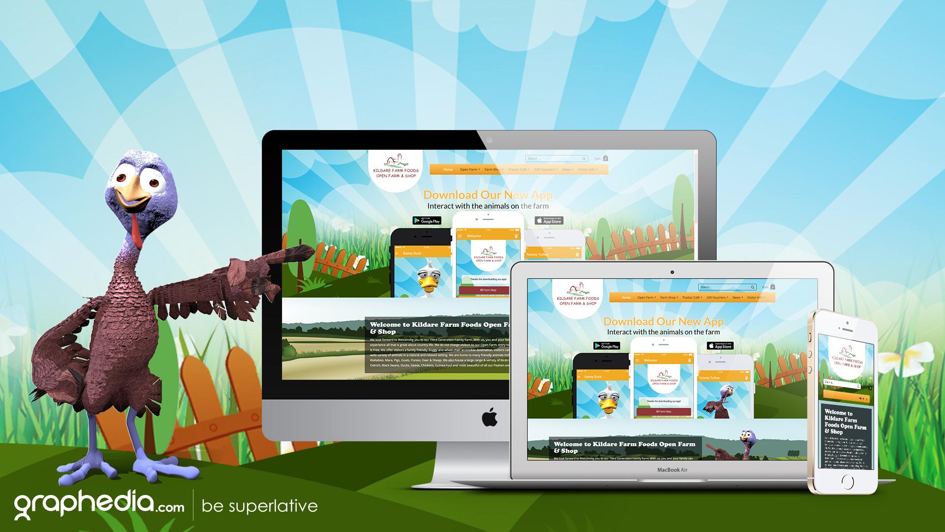 Kildare Farm Foods Website Design & App Development