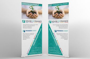 House of Finance Display Stands
