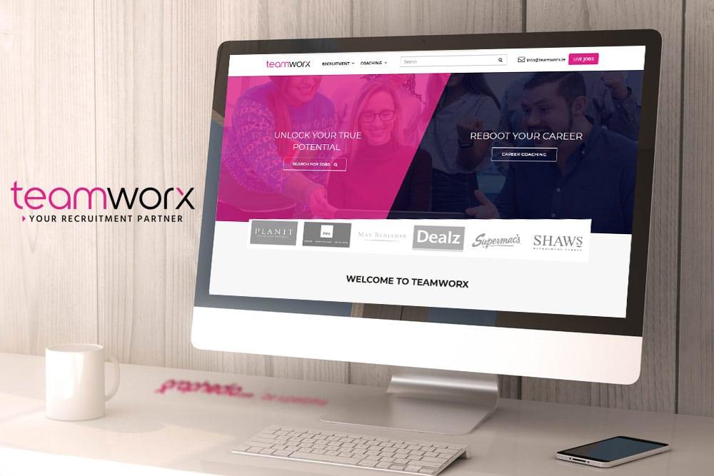 Teamworx Recruitment Website Design ireland
